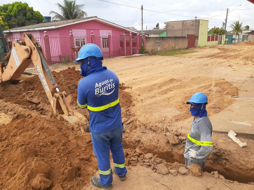 Obras de ampliação do sistema de abastecimento seguem em Buritis