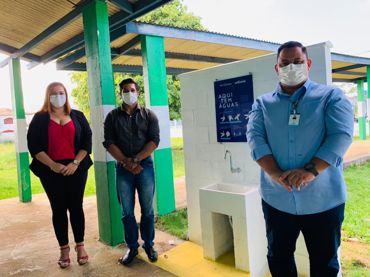 Secretaria Municipal do Desenvolvimento Social de Ariquemes recebe pia para higienização das mãos